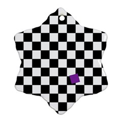 Dropout Purple Check Ornament (snowflake) by designworld65