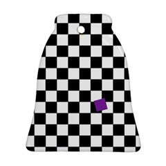 Dropout Purple Check Ornament (bell) by designworld65