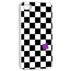 Dropout Purple Check Apple Iphone 4/4s Seamless Case (white) by designworld65
