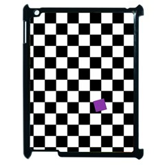 Dropout Purple Check Apple Ipad 2 Case (black) by designworld65