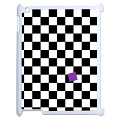 Dropout Purple Check Apple Ipad 2 Case (white) by designworld65