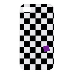 Dropout Purple Check Apple Iphone 4/4s Hardshell Case by designworld65