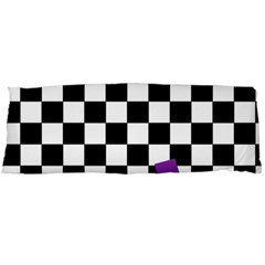 Dropout Purple Check Body Pillow Case (dakimakura) by designworld65