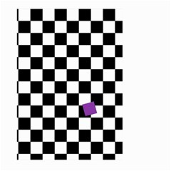 Dropout Purple Check Large Garden Flag (two Sides) by designworld65