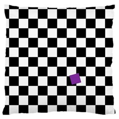 Dropout Purple Check Large Cushion Case (two Sides) by designworld65
