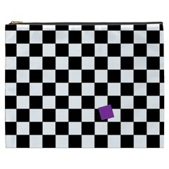 Dropout Purple Check Cosmetic Bag (xxxl)  by designworld65