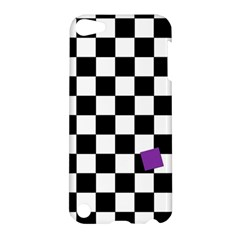 Dropout Purple Check Apple Ipod Touch 5 Hardshell Case by designworld65