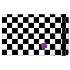 Dropout Purple Check Apple Ipad 2 Flip Case by designworld65
