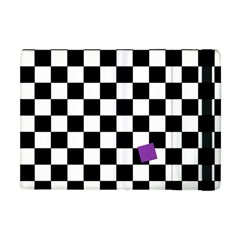 Dropout Purple Check Apple Ipad Mini Flip Case by designworld65