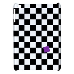 Dropout Purple Check Apple Ipad Mini Hardshell Case by designworld65