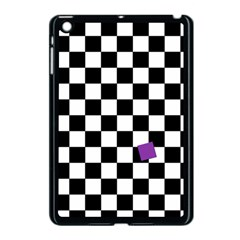 Dropout Purple Check Apple Ipad Mini Case (black) by designworld65
