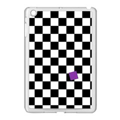 Dropout Purple Check Apple Ipad Mini Case (white) by designworld65