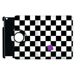 Dropout Purple Check Apple Ipad 2 Flip 360 Case by designworld65