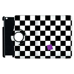 Dropout Purple Check Apple Ipad 3/4 Flip 360 Case by designworld65