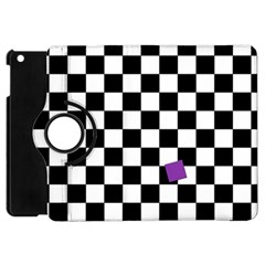 Dropout Purple Check Apple Ipad Mini Flip 360 Case by designworld65