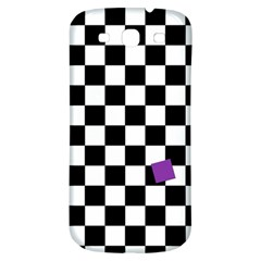 Dropout Purple Check Samsung Galaxy S3 S Iii Classic Hardshell Back Case by designworld65