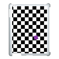 Dropout Purple Check Apple Ipad 3/4 Case (white) by designworld65