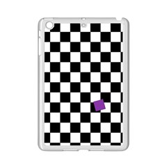 Dropout Purple Check Ipad Mini 2 Enamel Coated Cases by designworld65