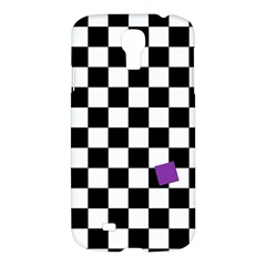 Dropout Purple Check Samsung Galaxy S4 I9500/i9505 Hardshell Case by designworld65