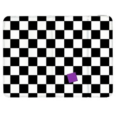 Dropout Purple Check Samsung Galaxy Tab 7  P1000 Flip Case by designworld65
