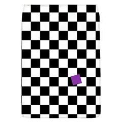 Dropout Purple Check Flap Covers (l)  by designworld65