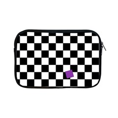 Dropout Purple Check Apple Ipad Mini Zipper Cases by designworld65