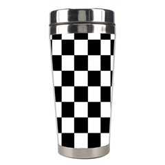 Dropout Purple Check Stainless Steel Travel Tumblers by designworld65