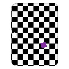 Dropout Purple Check Samsung Galaxy Tab 3 (10 1 ) P5200 Hardshell Case  by designworld65