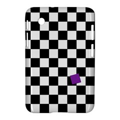 Dropout Purple Check Samsung Galaxy Tab 2 (7 ) P3100 Hardshell Case  by designworld65