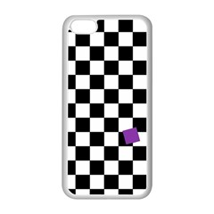 Dropout Purple Check Apple Iphone 5c Seamless Case (white) by designworld65