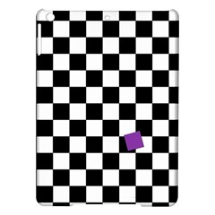 Dropout Purple Check Ipad Air Hardshell Cases by designworld65