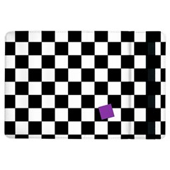 Dropout Purple Check Ipad Air Flip by designworld65