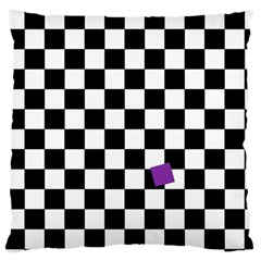 Dropout Purple Check Standard Flano Cushion Case (one Side) by designworld65