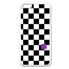 Dropout Purple Check Apple Iphone 6 Plus/6s Plus Enamel White Case by designworld65