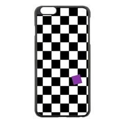Dropout Purple Check Apple Iphone 6 Plus/6s Plus Black Enamel Case by designworld65