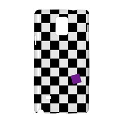 Dropout Purple Check Samsung Galaxy Note 4 Hardshell Case by designworld65
