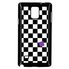Dropout Purple Check Samsung Galaxy Note 4 Case (black) by designworld65