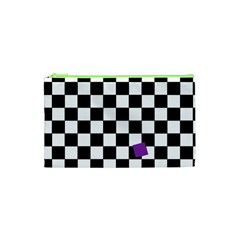 Dropout Purple Check Cosmetic Bag (xs) by designworld65