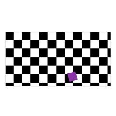 Dropout Purple Check Satin Shawl by designworld65