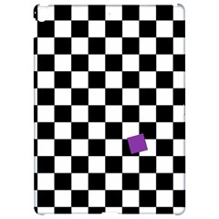 Dropout Purple Check Apple Ipad Pro 12 9   Hardshell Case by designworld65