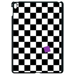 Dropout Purple Check Apple Ipad Pro 9 7   Black Seamless Case by designworld65