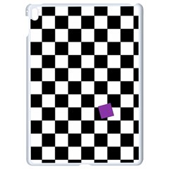 Dropout Purple Check Apple Ipad Pro 9 7   White Seamless Case by designworld65