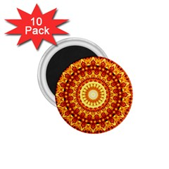 Powerful Love Mandala 1 75  Magnets (10 Pack)  by designworld65