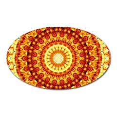 Powerful Love Mandala Oval Magnet