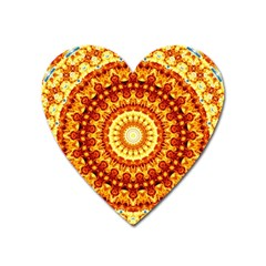 Powerful Love Mandala Heart Magnet by designworld65