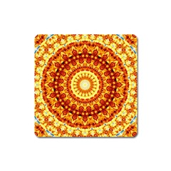 Powerful Love Mandala Square Magnet