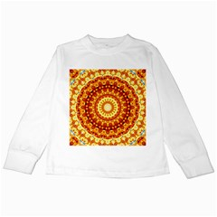 Powerful Love Mandala Kids Long Sleeve T Shirts by designworld65