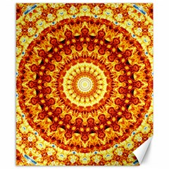 Powerful Love Mandala Canvas 8  X 10  by designworld65