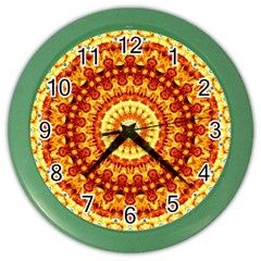 Powerful Love Mandala Color Wall Clocks by designworld65