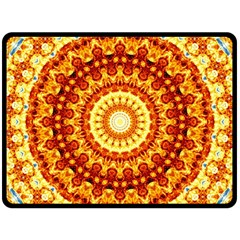 Powerful Love Mandala Fleece Blanket (large)  by designworld65